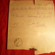 Plic spec.pt.ziare, stamp. violet Ulmu si dreptunghi.CFR Ciresi siBraila 1894