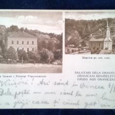 Salutari de la Oravita-Caffe Nowak-Biserica Gr. Ortodoxa Romana-circulata1917