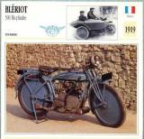 324 Foto Motociclism - BLERIOT 500 BICYLINDRE - FRANTA -1919 -pe verso date tehnice in franceza -dim.138X138 mm -starea ce se vede