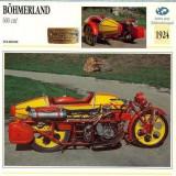 282 Foto Motociclism - BOHMERLAND - CEHOSLOVACIA - 1924 -pe verso date tehnice in franceza -dim.138X138 mm -starea ce se vede - Fotografie