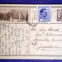 CP-Intreg postal-Busteni-1940-Timbru de 6 lei imprimat+1 Leu posta+stampila Taxa