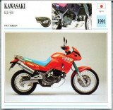 359 Foto Motociclism - KAWASAKI KLE 500 - JAPONIA -1991 -pe verso date tehnice in franceza -dim.138X138 mm -starea ce se vede