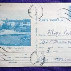 Cluj Napoca - Piata Libertatii - Intreg Postal - Circulat