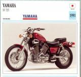 370 Foto Motociclism - YAMAHA XV 535 - JAPONIA -1991 -pe verso date tehnice in franceza -dim.138X138 mm -starea ce se vede