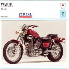 370 Foto Motociclism - YAMAHA XV 535 - JAPONIA -1991 -pe verso date tehnice in franceza -dim.138X138 mm -starea ce se vede - Fotografie