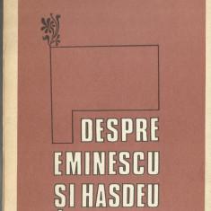 (C) DESPRE EMINESCU SI HASDEU - MIRCEA ELIADE - Roman, Anul publicarii: 1987