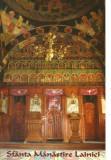Carte postala CP GJ012 Lainici - Sfanta Manastire Lainici [Interior din Biserica Veche] - necirculata