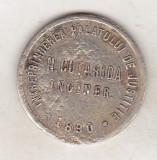 bnk jt jeton Romania INTREPRINDEREA PALATULUI DE JUSTITIE 1890 N Cutarida inginer 50 bani