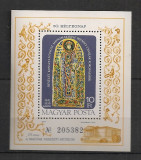 Ungaria.1977 Ziua marcii postale:Obiecte de cult-Bl.  SU.254