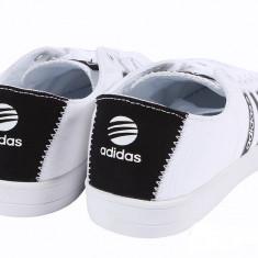 42_adidasi originali Adidas_tenisi barbati_din panza_alb_in cutie, Textil