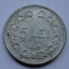 5 lei 1949 - 4 - LUCIU DE BATERE - Moneda Romania
