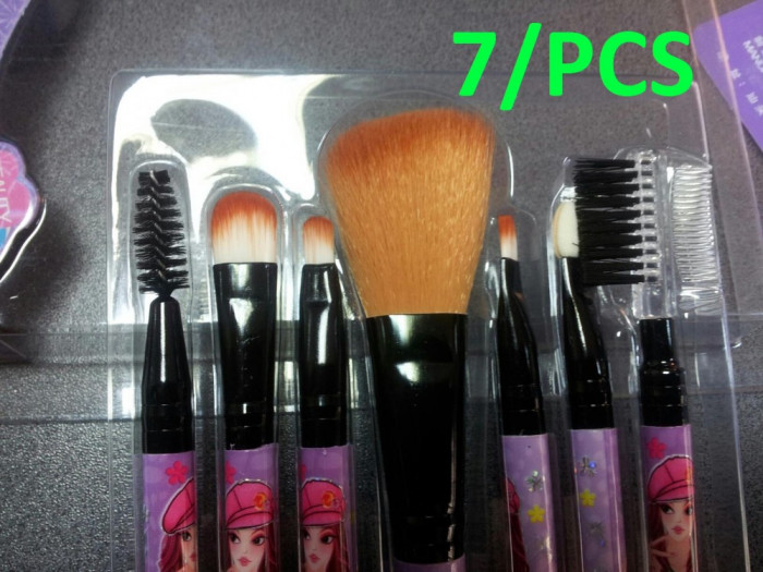 Set Trusa 7set Pensulebrush Profesionale De Machiaj Make Up