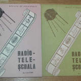 raritate. 2 reviste RADIOTELESCOALA - REVISTA DE PEDAGOGIE. NR 1-2-3/1981. nr 4/1981 matematica. fizica. chimie. biologie. limba r