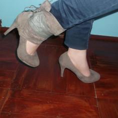 Vand pantofi dama - Pantof dama Zara, Culoare: Gri, Marime: 38, Gri