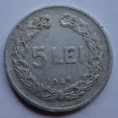 5 lei 1949 - 3 - - Moneda Romania
