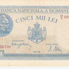 ROMANIA 5.000 LEI / 1944 . XF - Bancnota romaneasca