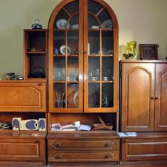 Mobila sufragerie/living lemn masiv - Set mobila living