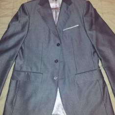 Vand SACOU BARBATESC ZARA MASURA M (48-50) - Sacou barbati Zara, Culoare: Gri, 3 nasturi, Normal