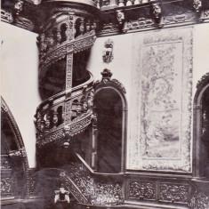 Bnk cp Sinaia - Muzeul Peles - Holul de onoare (detaliu) - circulata