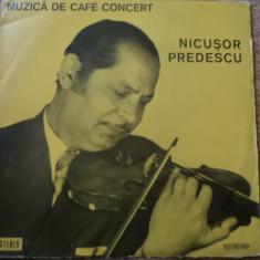 Nicusor predescu muzica de cafe concert vinyl - Muzica Lautareasca electrecord, VINIL