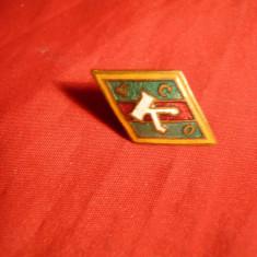 Insigna veche Fotbal Steaua Rosie K. DSO -URSS - Insigna fotbal