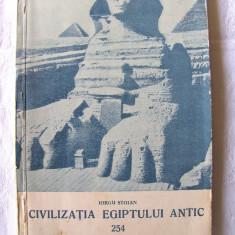 CIVILIZATIA EGIPTULUI ANTIC, Iorgu Stoian, 1958. Contine o harta - Istorie
