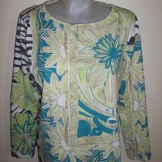Bluza Margittes, marime 46: 55 cm bust, 68 cm lungime; impecabila - Bluza dama, Culoare: Din imagine, Maneca lunga, Bumbac