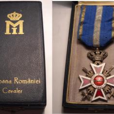 Ordinul Coroana Romaniei Cavaler Model de Razboi la Cutie Piesa de Colectie - Ordin/ Decoratie