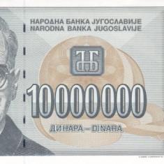 Bancnota Iugoslavia 10.000.000 Dinari 1994 - P144 UNC ( supratipar pe P122 )