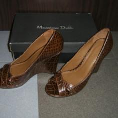 PANTOFI MASSIMO DUTTI - Pantof dama, Culoare: Maro, Marime: 38, Maro