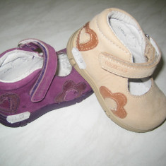 Pantofi copii WINK;cod LL603-1(mov);LL603-2(bej);marime:20-27, Marime: 22, Unisex, Piele naturala