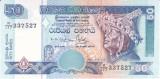 Bancnota Sri Lanka 50 Rupii 2001 - P117a UNC