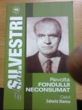 Revolta fondului neconsumat. Cazul Zaharia Stancu - Artur Silvestri