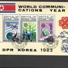 BLOC KOREA DE NORD--1983 - Timbre straine, Stampilat