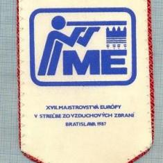 13 New Fanion de Tir -BAZ -Bratislava 1987 -CEHOSLOVACIA -starea care se vede - Fanion fotbal