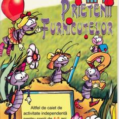 PRIETENII FURNICUTELOR de SILVIA ILINESCU CAIET DE ACTIVITATE INDEPENDENTA PT COPIII DE 4-5 ANI ED. ARAMIS - Manual scolar
