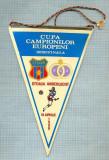 28 New Fanion - CUPA CAMPIONILOR EUROPENI-SEMIFINALA -STEAUA -ANDERLECHT -16 APRILIE 1986 -starea care se vede