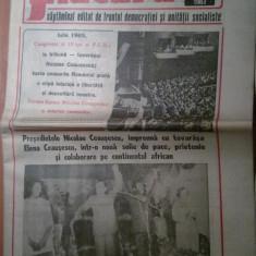 Ziarul flacara 15 iulie 1983 (vizita lui ceausescu in etiopia )