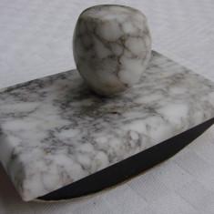 Tampon de epoca din marmura cu sugativa - Metal/Fonta, Altul