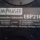 Subwoofer EmPhaser 300W - Amplificator  Rodek