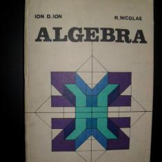 ALGEBRA=ION D.ION/R.NICOLAE - Carte Matematica