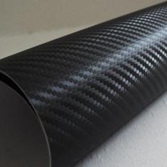 Folie Carbon Auto 3D 50 cm x 127 cm (0.5 x1.27 m) Neagra Air Bubble Free + Bonus - Folie Auto