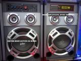 SISTEM COMPLET KARAOKE-BOXE AMPLIFICATE/ACTIVE 200 WATT,CITITOR MP3 INCLUS+SET MICROFOANE BONUS!