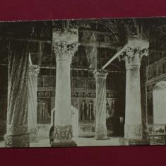 Carte postala interbelica - interior Manastirea Vacaresti