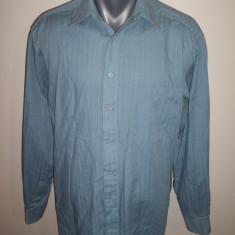 Camasa de la C&A, marime M : 58.5 cm bust, 72 cm lungime, 62.5 cm maneca - Camasa barbati, Marime: M, Culoare: Albastru, Maneca lunga
