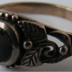 Inel vechi din argint cu piatra onyx (24) - de colectie