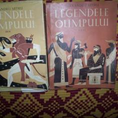 Legendele Olimpului (2 vol./ Zeii -Eroii)- Al. Mitru (cu dedicatie si semnatura) - Roman