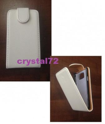 Livrare gratuita!!! Husa / toc flip alba pentru Samsung Galaxy S2 I9100/SAMSUNG I9105 GALAXY S2 II PLUS + stylus foto