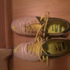 Ghete fotbal Nike CTR 360 Alb, verde originale, Kanga Lite, Marime: 43, Barbati