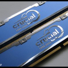 Kit memorie Crucial Anniversary 2x1GB DDR2 667 CL3 Editie Limitata - Memorie RAM
